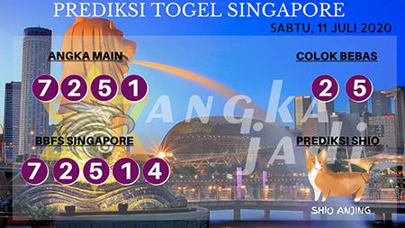 Prediksi Togel Angka Jadi Singapura SGP Sabtu 11 Juli 2020