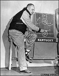 Προπόνηση ομάδας μπάσκετ στην άμυνα. Adolph Frederick Rupp.