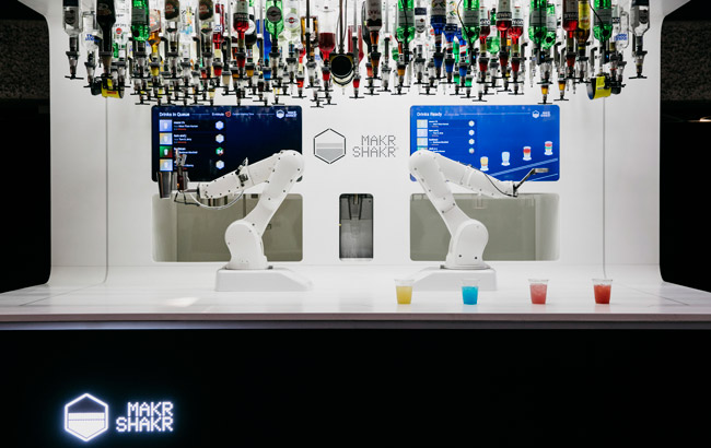 robots serving cocktails in London