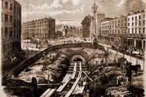 начало строительства первого в мире метро