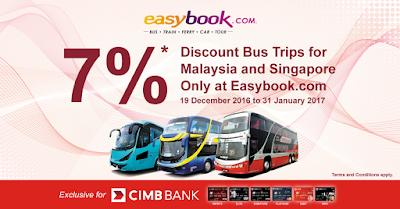 Easybook Malaysia Bus Ticket Discount Promo Code CIMB
