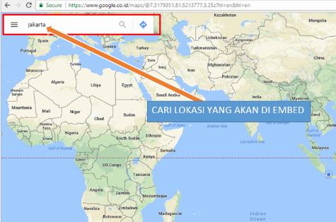 Cara Pasang Peta Hidup Google Maps di Halaman Blog
