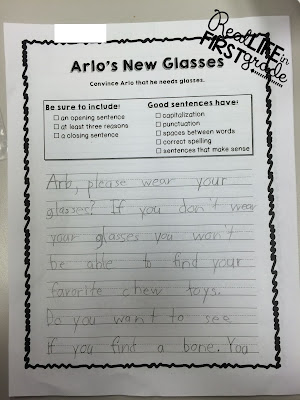 Sample of Child's Writing