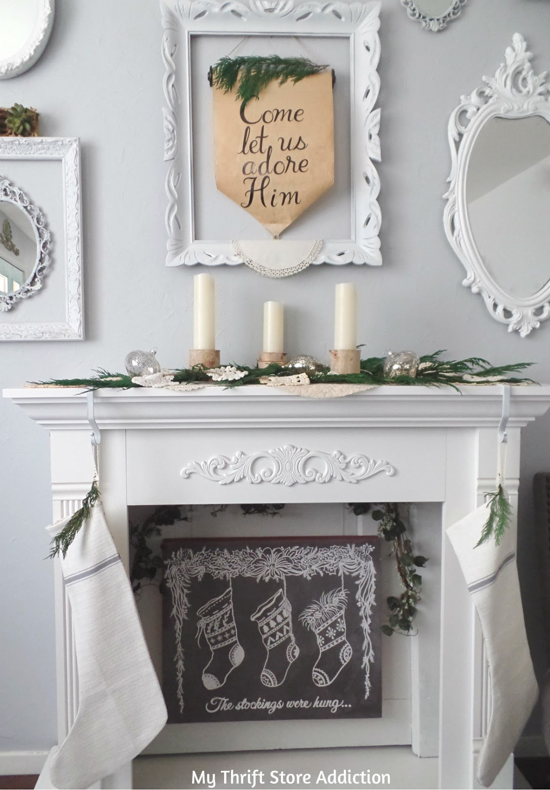 rustic and romantic Christmas decor