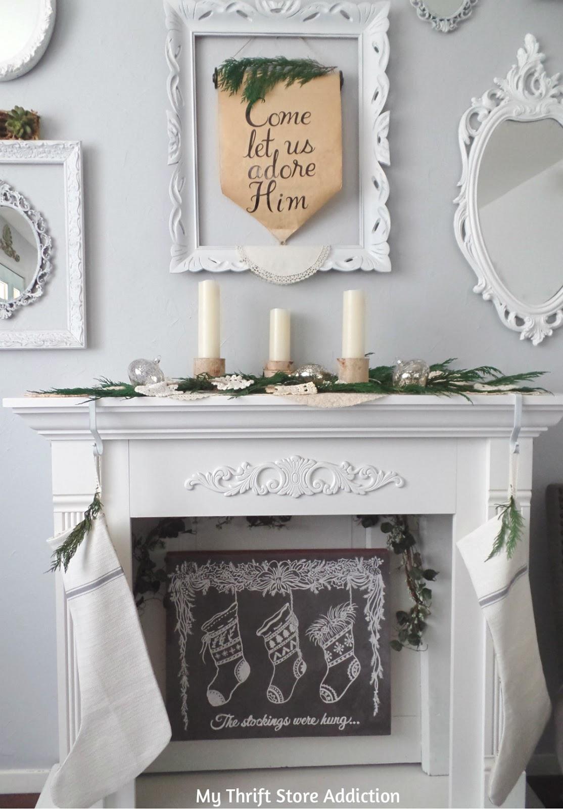 rustic and romantic Christmas decor