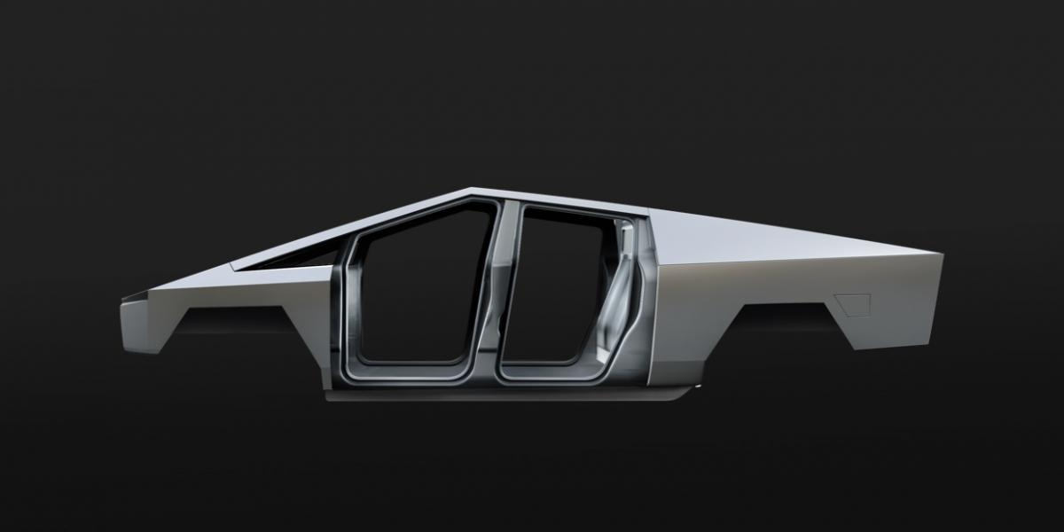 Tesla CyberTruck esqueleto