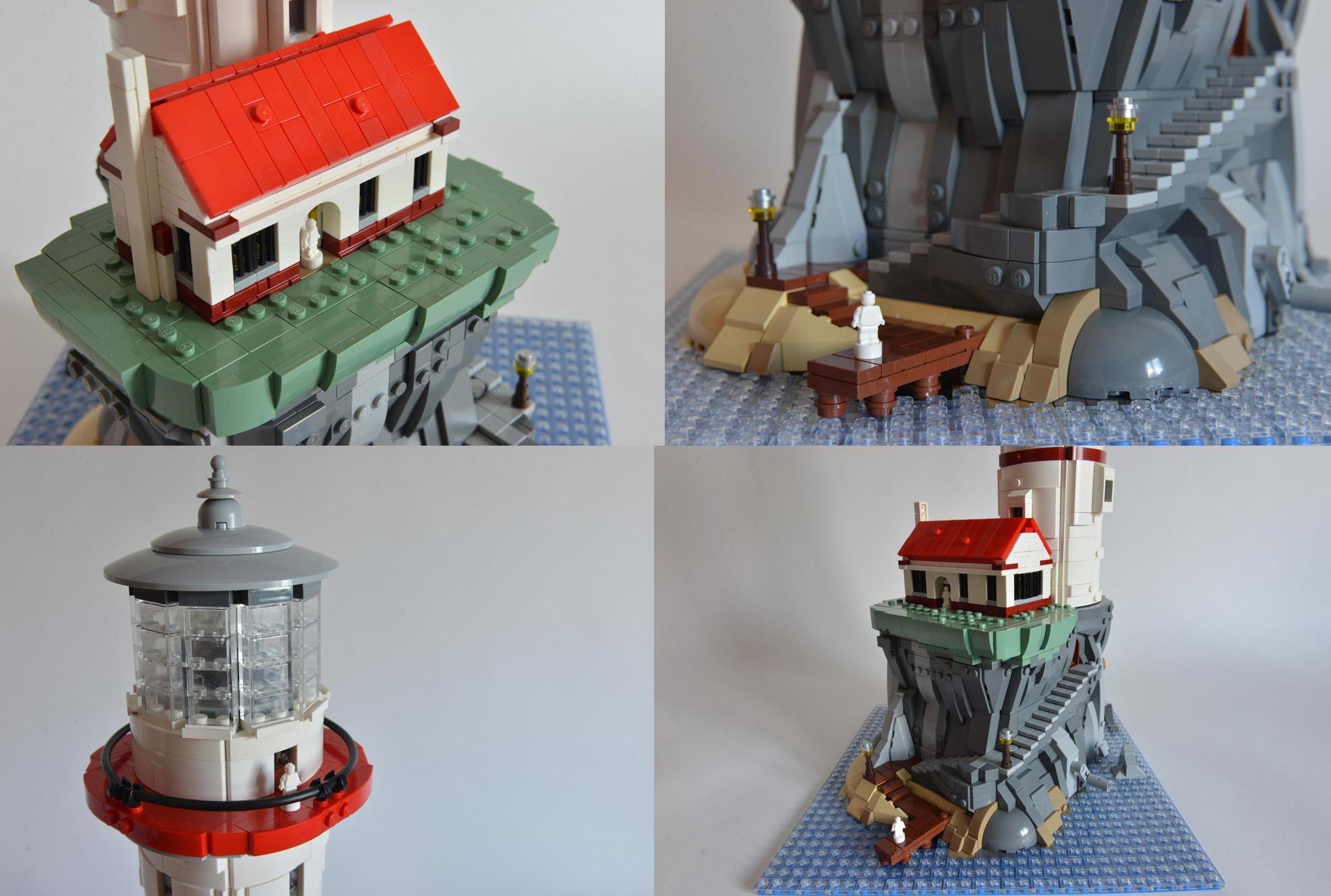 光って回るパワード灯台がレゴアイデア製品化レビュー進出!