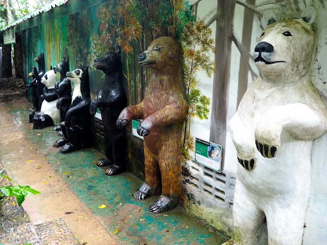 Sun bear sanctuary at Kuang Si waterfall, near Luang Prabang, Laos