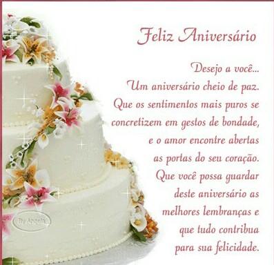 Desejo a você um aniversário cheio de paz, Mensagens de Feliz Aniversario