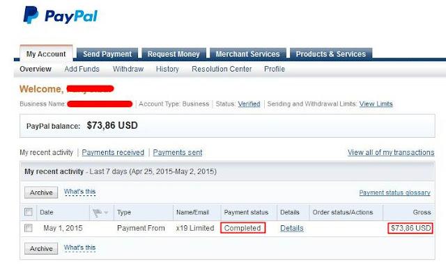 Bukti Pembayaran Adf.ly Min $5 Melalui Paypal Terbaru
