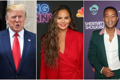 Trump Slams🎤 John Legend and 'His Filthy Mouthed Wife,' Chrissy Teigen