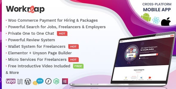 Workreap plugin–WordPress Freelance Exchange Template