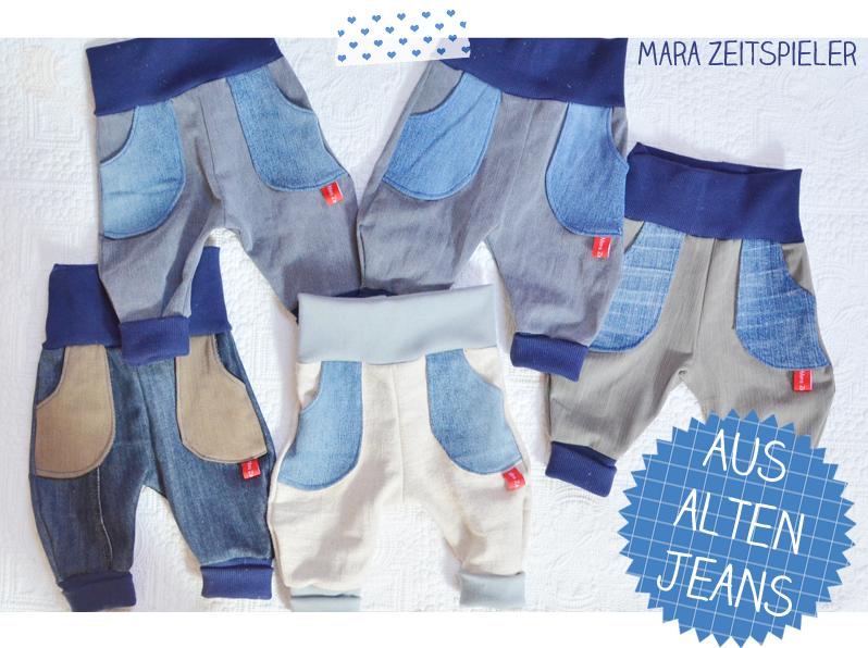 Upcycling: Kinderhosen aus alten Jeans ~ Mara Zeitspieler