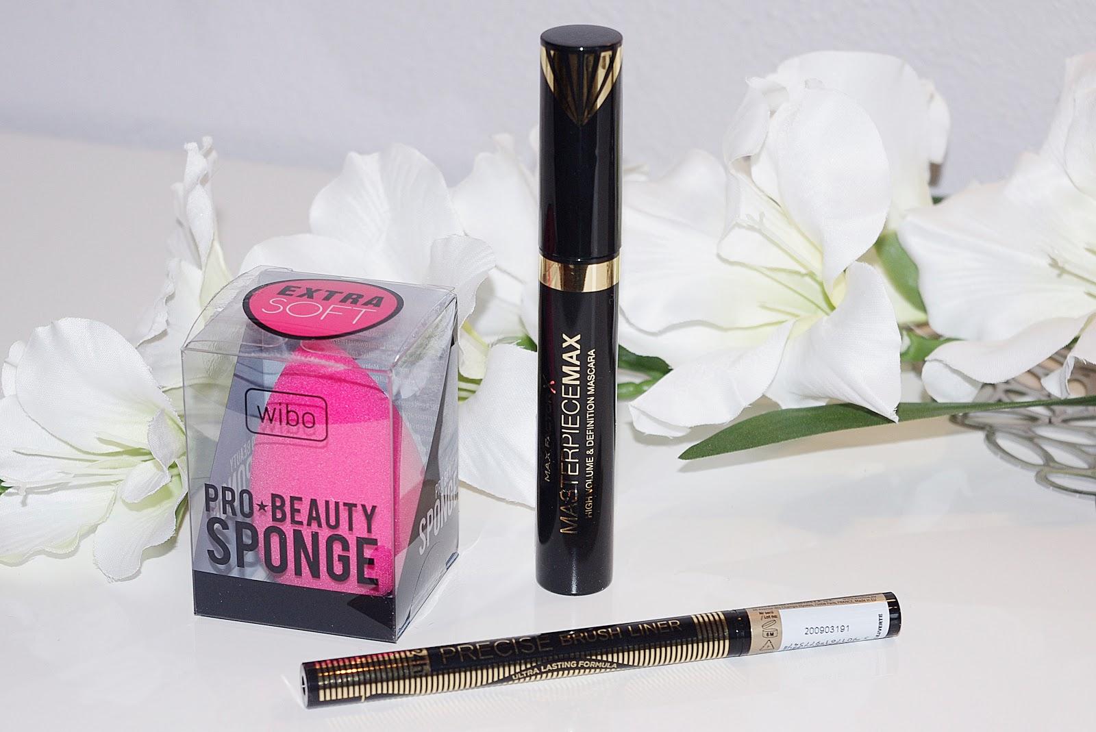 nowości wibo pro beauty sponge eyeiner eveline precise brush liner max factor masterpiece
