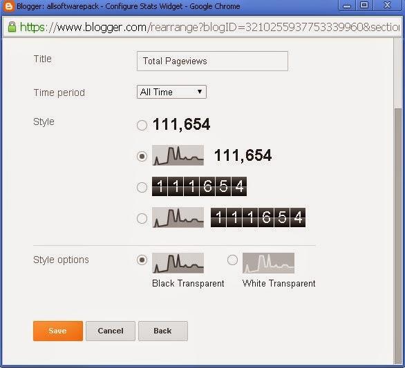 Add Blogger Stat's Counter Widget