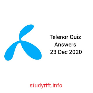 Telenor quiz questions and answers of 23 December 2020