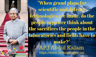 """When grand plans for scientific and defence technologies are made, do the people in power think about the sacrifices the people in the laboratories and fields have to make?"""