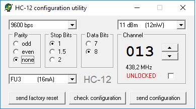 HC-12 Configuration Utility