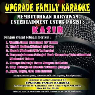 Lowongan Kerja Kasir di Upgrade Family Karaoke