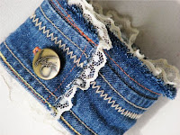 craft, used denim, bracelet