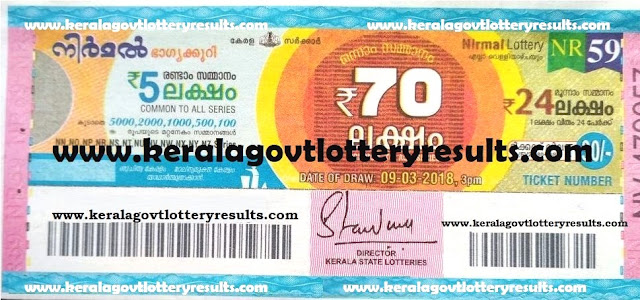 kerala lottery latest results, kerala niraml lottery results,