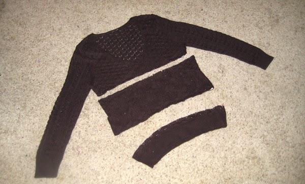 DIY cómo convertir un jersey en un bolero