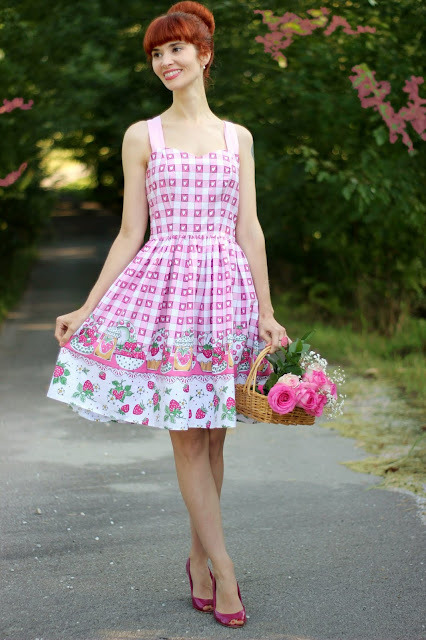 Hell Bunny by Vixen Movers and Bakers Strawberry Dress from ModCloth