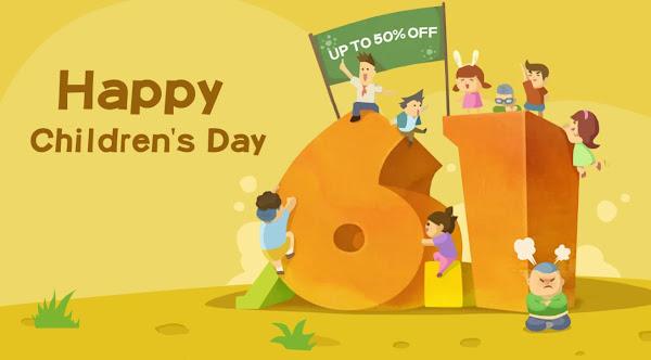 Promoção Dia da Criança na Tomtop