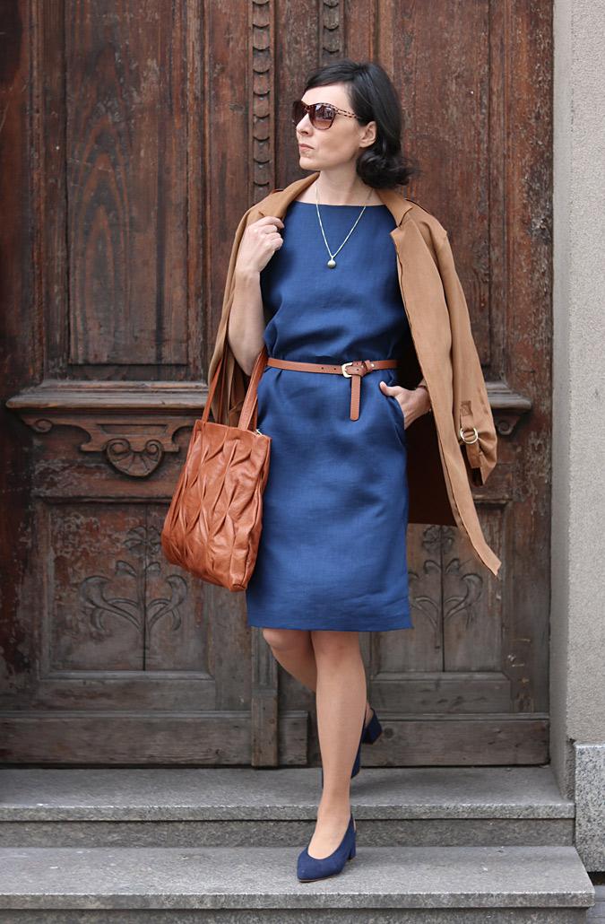 Granatowa sukienka stylizacje 2019