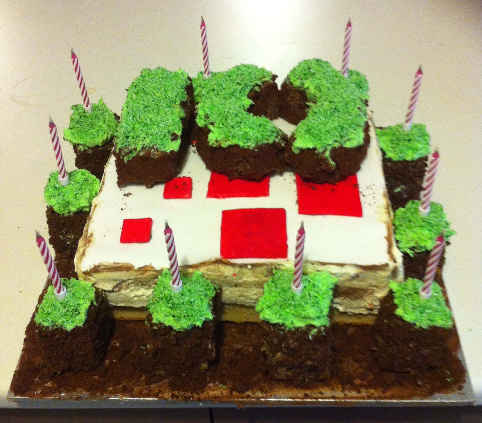 Minecraft Cake Block Birthday