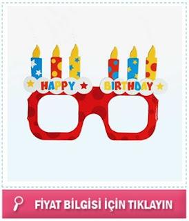 Doğum Günü Parti Gözlüğü Seti 4'lü