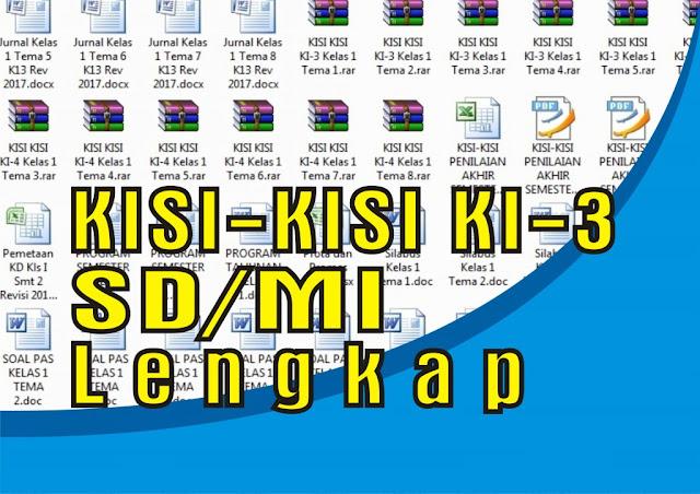 Download Kumpulan Kisi-Kisi KI3 Kelas 1 Tema 1 sampai Tema 8 Kurikulum 2013 Revisi Terbaru