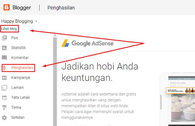 cara daftar google adsense youtube di hp