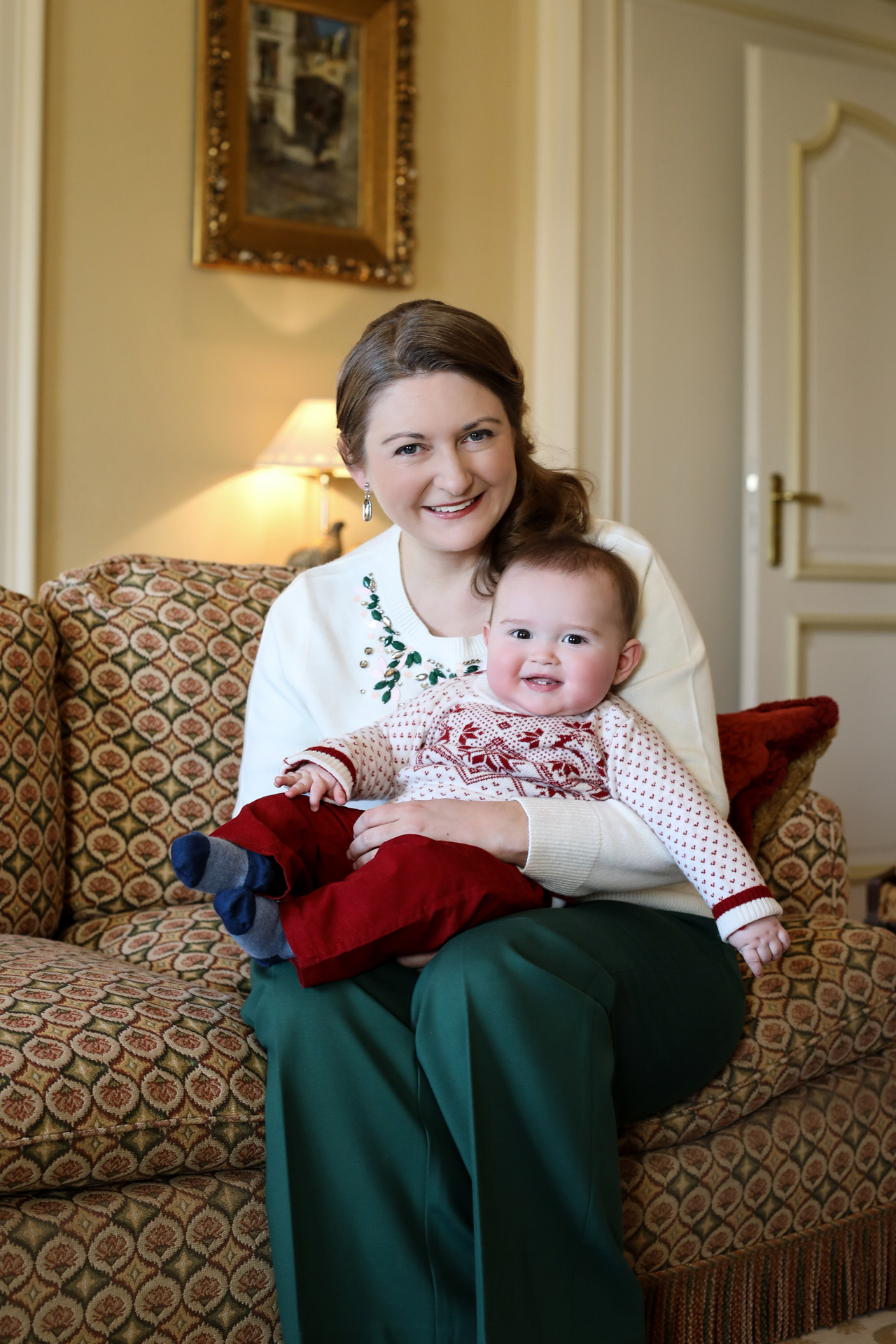 Herediatery Grand Duchess Stephanie and her son Prince Charles in a new picture marking Duchess' 37th birthday