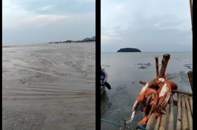 Viral Air Laut di Pantai Jepara Surut Jauh Mirip Tanda-tanda Sebelum Tsunami Datang