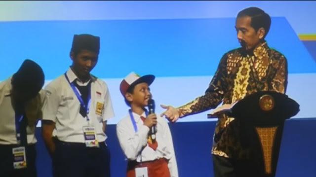 Viral Puisi Anak SD untuk Jokowi, Pengen Sepeda tapi Tak Hafal Nama Ikan