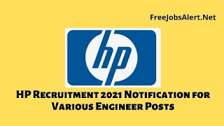 HP Recruitment 2021 Notification for Various Engineer Posts