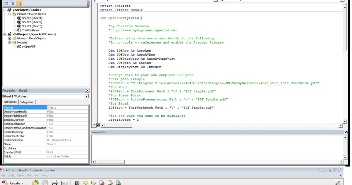 VBA Macro To Open A PDF File ~ My Engineering World