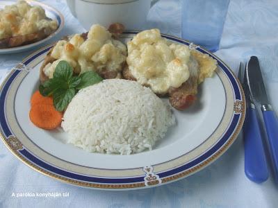 Karfiolos-sajtos hús