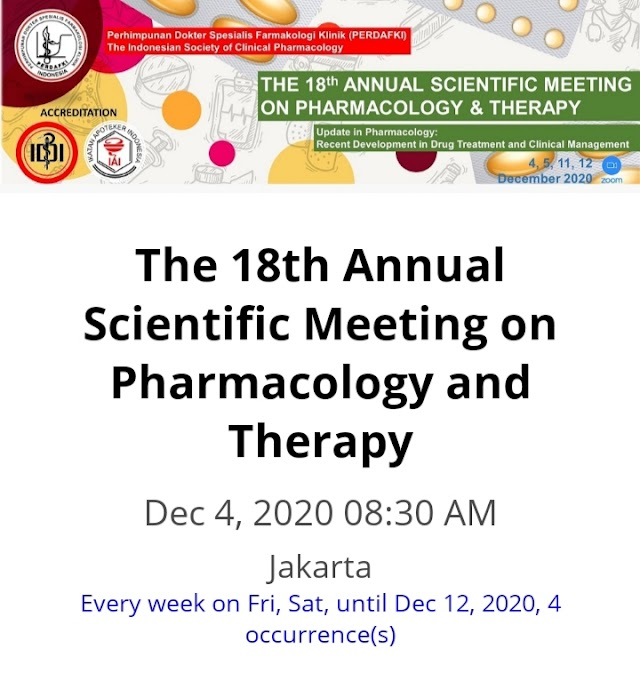 The 18th Annual Scientific Meeting on Pharmacology & Therapy 15 SKP IDI