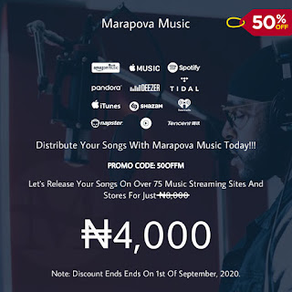 Promo!! 50% Discount On All Music Distribution, Ends 1st Of September, 2020