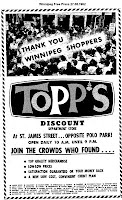 TOPPS Dank-Anzeige