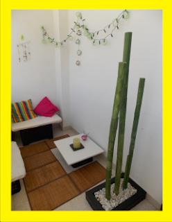 Bambú de tubos de cartón - Reciclaje