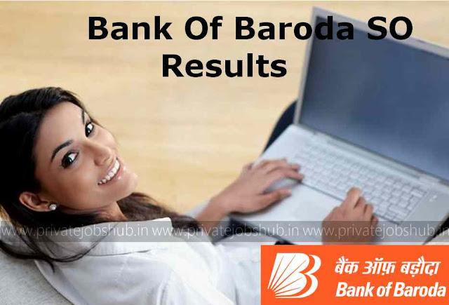Bank Of Baroda SO Results