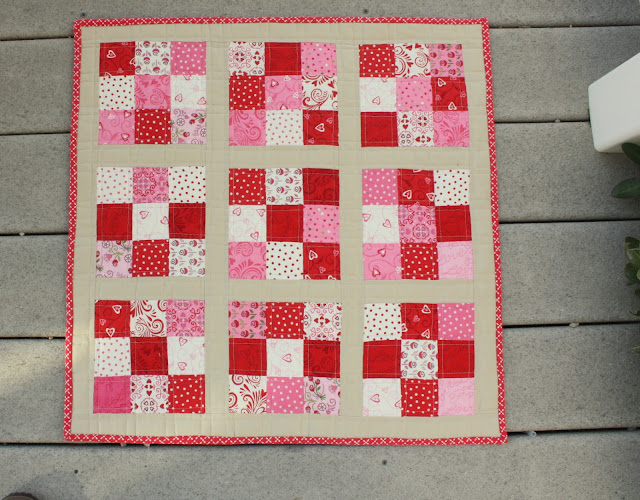 Nine Patch Mini Quilt Tutorial Diary Of A Quilter A