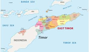 Map showing border East Timor and Indonesia Border closed COVID19