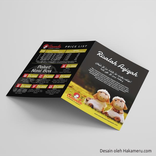 Desain Cover Buku Risalah Akikah Aqiqah Untuk UMKM