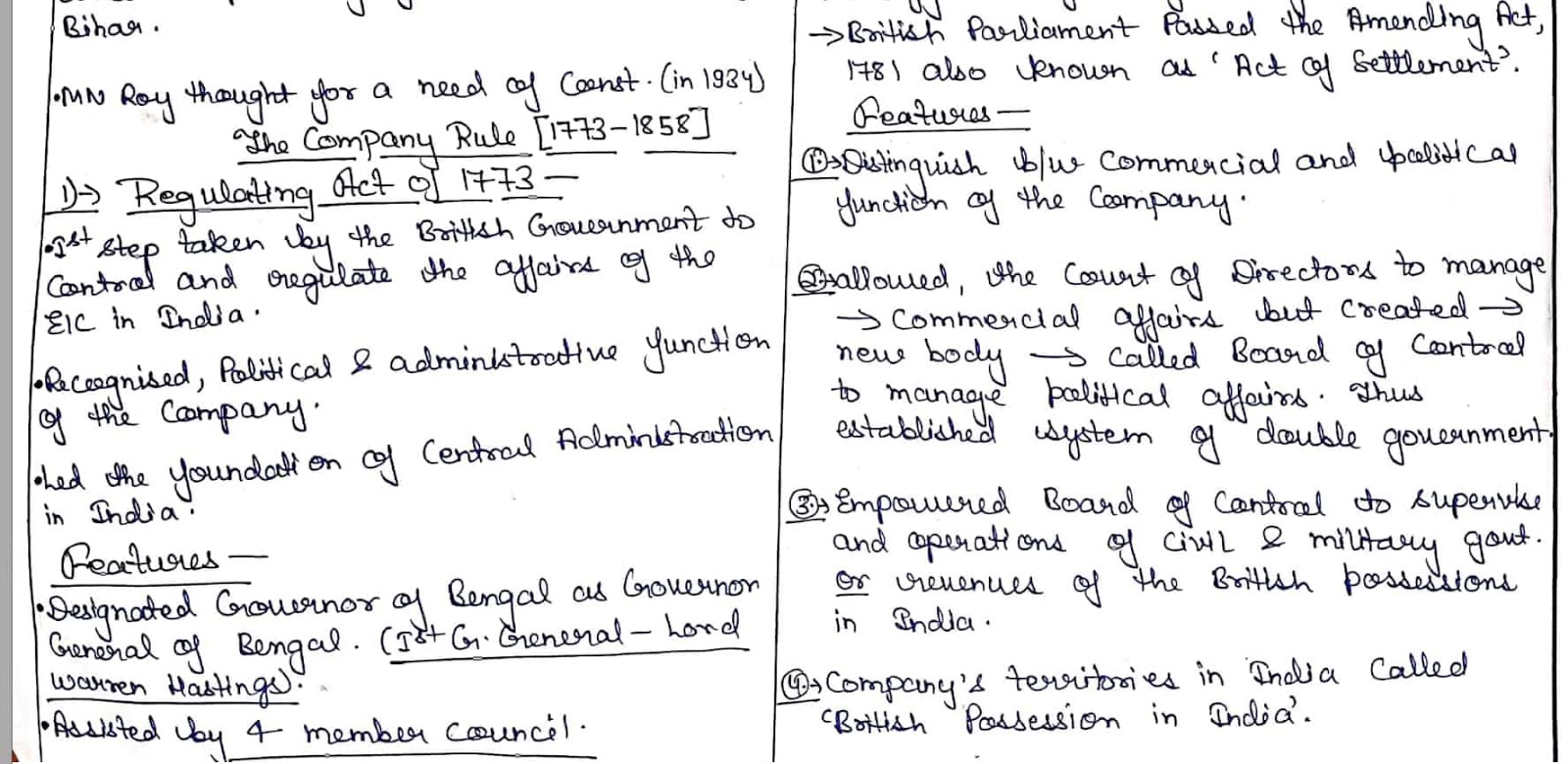 M Laxmikant Indian Polity Hand Written Notes