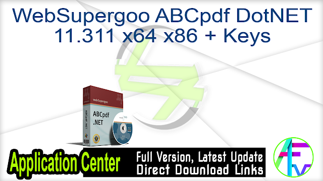 WebSupergoo ABCpdf DotNET 11.311 x64 x86 + Keys