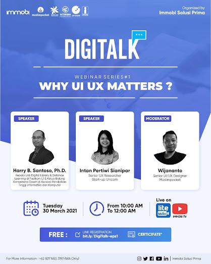 Webinar Why UI/UX Matters - 30 Maret 2021